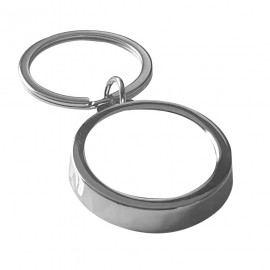 Round Bottle Opener Key Ring