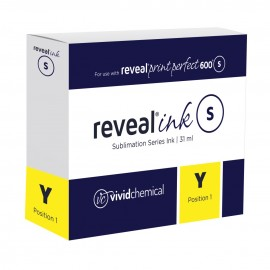 Reveal Sublimation Ink - Yellow P600 31ml Cartridge