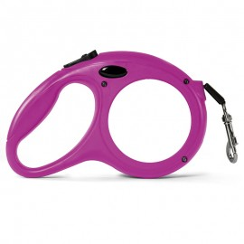 Retractable Pink Pet lead - large