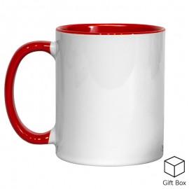 11oz Red Inner & Handle Sublimation Mug