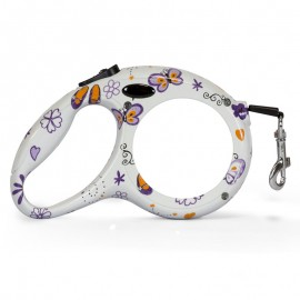Retractable Dog lead - butterfly design
