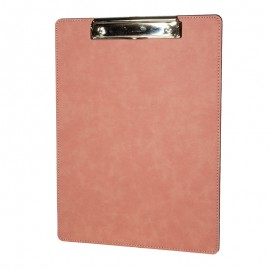 Pink Faux Leather Clip Board