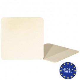 Natural Matt Square 1.5mm Cardboard Coasters  (Pack of 10)