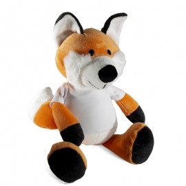 Fox Plush Toy With Sublimation T-Shirt