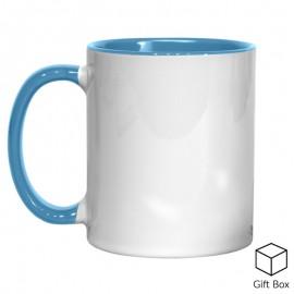 11oz Light Blue Inner & Handle Sublimation Mug
