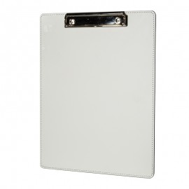 White Sublimation Leather Clip Board