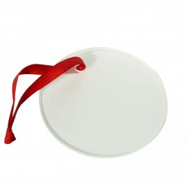 Round Glass Sublimation Christmas Decoration