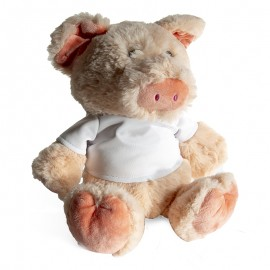Pig Plush Toy With Sublimation T-Shirt