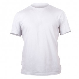 Polyester T-Shirt (White) - M