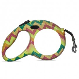 Sublimation retractable dog lead - colourful design