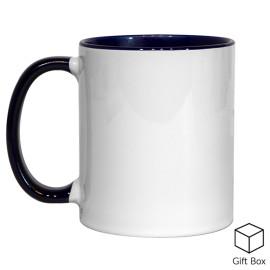 11oz Dark Blue Inner & Handle Sublimation Mug