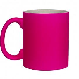 11oz Fluorescent Pink Matt Mug