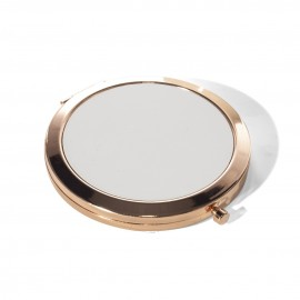 Rose Gold Round Sublimation Compact Mirror