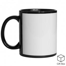 11oz Black Mug with Patch