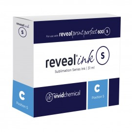 Reveal Sublimation Ink - Cyan P600 31ml Cartridge