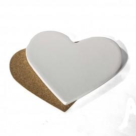"4"" Ceramic Heart Coasters"