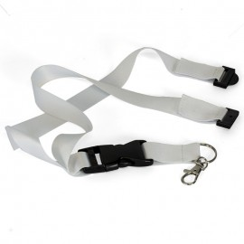 White sublimation lanyards