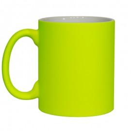 11oz Fluorescent Yellow Matt Mug