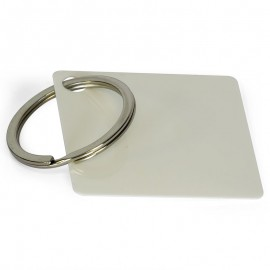 Sublimation plastic key ring  square