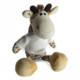 Giraffe Plush Toy with Sublimation T-Shirt