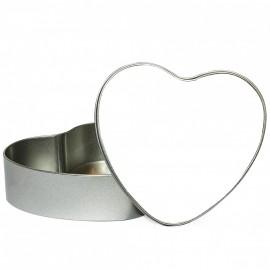 Heart-Shaped Metal Tin