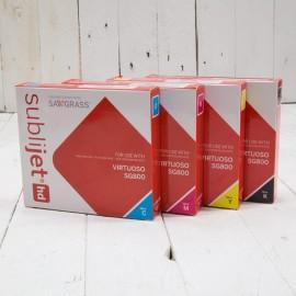 SubliJet-HD Sublimation Gel Ink (Extended Capacity CMYK Set) - For Sawgrass SG800