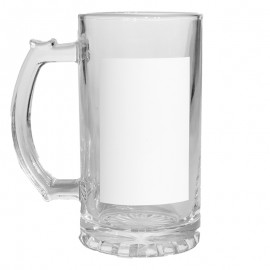 Sublimation Glass Beer Stein x2