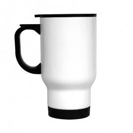 14oz Stainless Steel Travel Mug - White