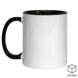 11oz Black Inner & Handle Sublimation Mug
