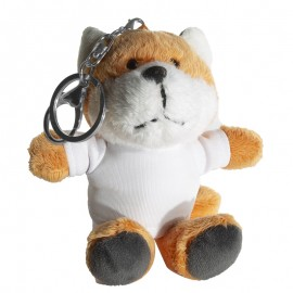 Sublimation Fox Key Ring with T-Shirt