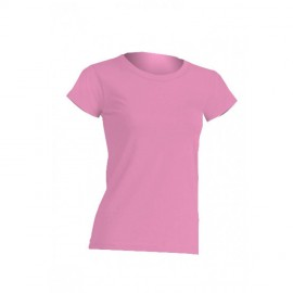 JHK Regular Pink Ladies Cotton Tee