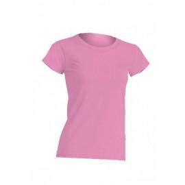 JHK Regular Pink Ladies Cotton Tee