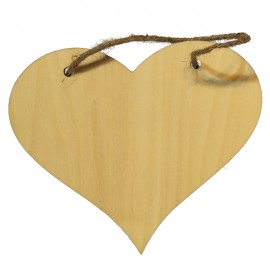 Natural Wood Heart Hanger