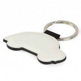 Faux Leather Car Key Ring