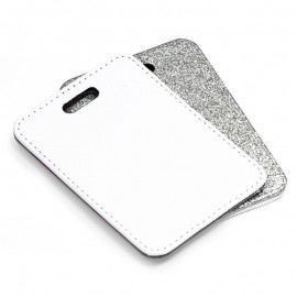 PU Luggage Tag - silver
