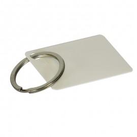 Sublimation plastic key ring rectangle