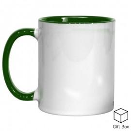 11oz Green Inner & Handle Sublimation Mug