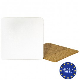 Blank square cork coasters (Pack of 10)