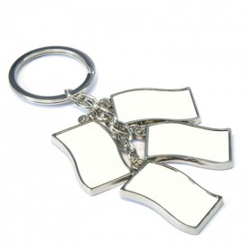 Sublimation Multi Flag Key Ring