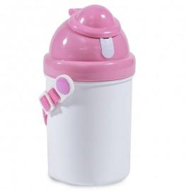 Childs Pink Plastic Drinks Bottle