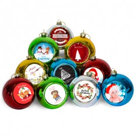 Sublimation Christmas baubles x 10
