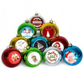 Sublimation Christmas baubles x 10