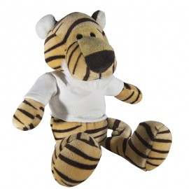 Tiger Plush Toy with Sublimation T-Shirt