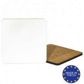 Square MDF Coaster with Cork - European