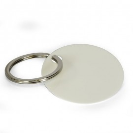 Sublimation plastic key ring round