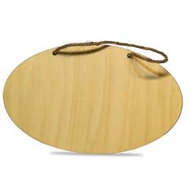 Natural Wood Oval Hanger