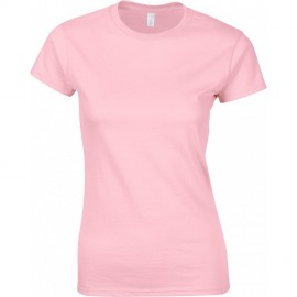 Gildan Women's Medium Pink Ringspun Tee