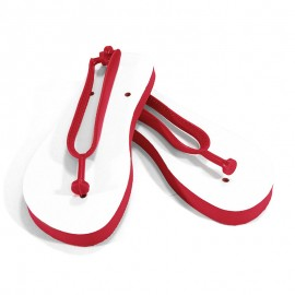 Childs Sublimation Flip Flops - Red