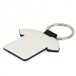 Faux Leather T-Shirt Key Ring