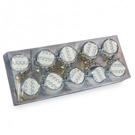 Sublimation Silver Christmas baubles x10
